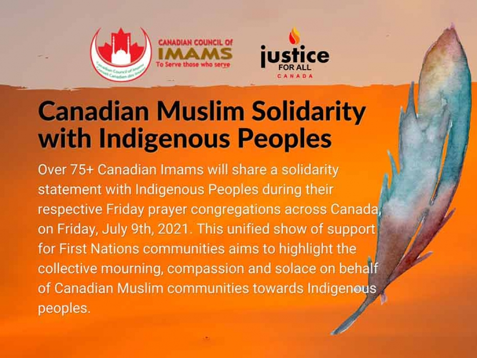 Canadian Imams Express Solidarity with Indigenous Peoples at Friday Prayer Congregations in July