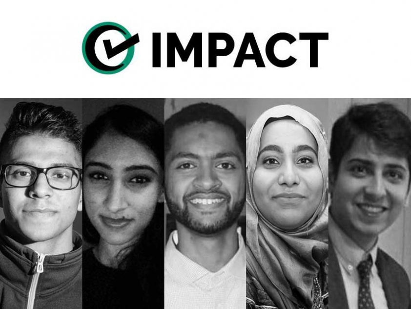 The people behind the IMPACT Fellowship: Asad Siddiqui, Asma Farooq, Abbas N. Ali, Rana Fatima, Mateen Manek