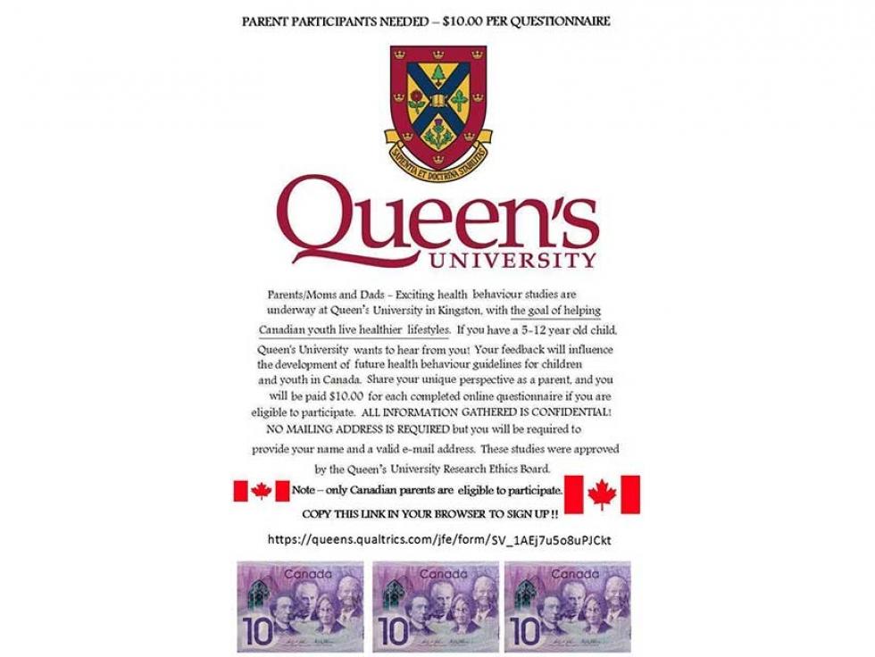 Muslim Parent Participants Needed: Queen's University Health Behaviour Studies