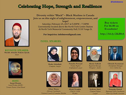 This Black History Month, Check Out Celebrating Strength, Hope & Resilience: Black Muslims in Canada on February 25 in Toronto