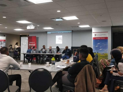 Coloniality & Racialization panel chaired by Dr. Awet Tewelde Weldemichael at the Somali Studies in Canada Colloquium in 2017.