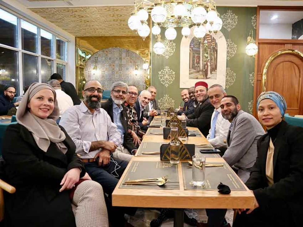 The Halal Expo Team with some of the 2019 Expo speakers at Nafisa Authentic Sweets & Cuisine, a restaurant that was also an exhibitor at the Expo.