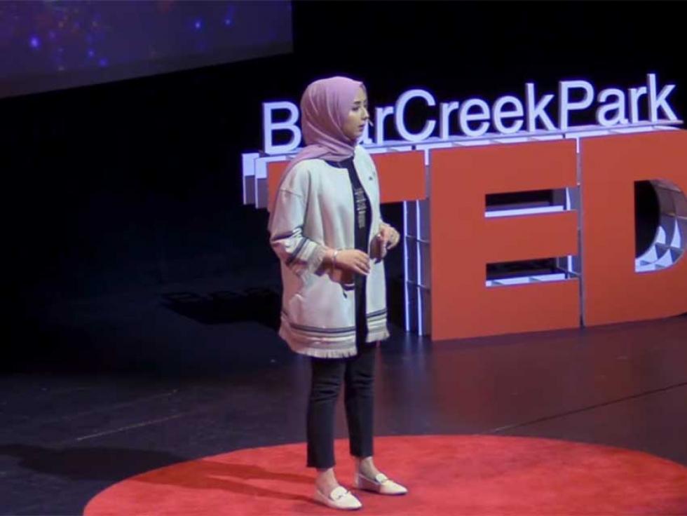 In 2020, Aida Sanjush spoke at TEDxBearCreekPark in Surrey, BC.