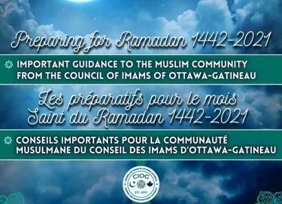 Council of Imams of Ottawa-Gatineau: Preparing for Ramadan 2021 and Ottawa Ramadan Prayer Timetable